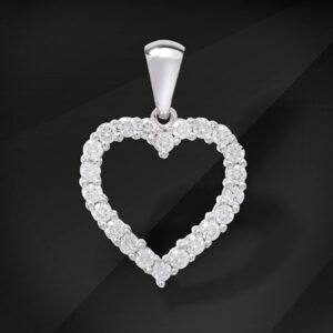 Heart shaped Diamond pendant - MIKU diamonds